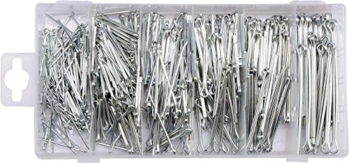 YATO assorted split cotter pins 555 pcs, sizes 1.5-4mm storage box (YT-06873)