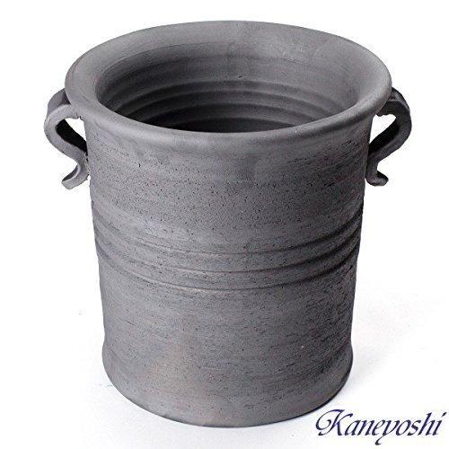 鉢 KANEYOSHI 【日本製/三河焼】 切立型 取っ手付 植木鉢 陶器 植物 27cm 8号 B079Q49GNT 8号  8号