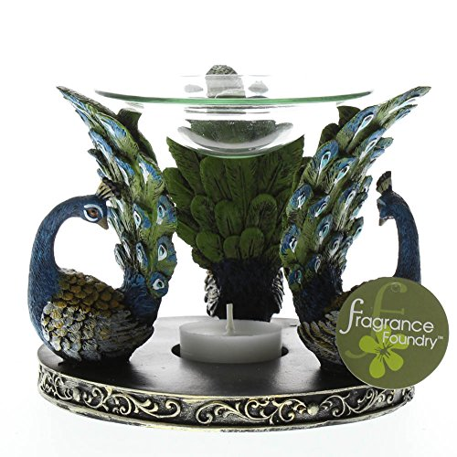 (Oil Warmer Elegant Expressions Oil Warmer Aromatherapy Peacock Plume Oil Warmers)
