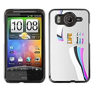 Cubierta de la caja de protección la piel dura para el HTC DESIRE HD / G10 - Life