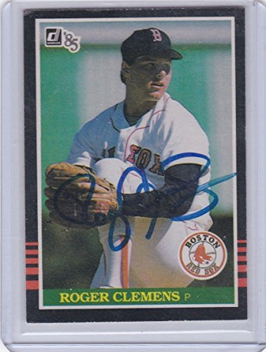 Card 1985 Autographed Donruss (Authentic Signed Rookie Roger Clemens Auto 1985 Donruss RC Card - JSA Certified - Baseball Slabbed Autographed Cards)