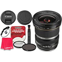 Canon EF-S 10–22mm f/3.5–4.5 USM Lens with Elite Optics Commander Pro HD Series Ultra-Violet Protector UV Filter & Circular Polarizer CPL Multi-Coated Filter - International Version