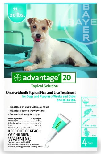 Advantage Flea Killer for Dogs, TEAL, 1120LBS. 4 Month Supply, U