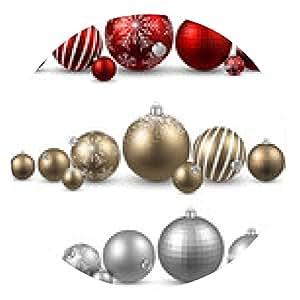 alfombrilla de ratón Conjunto de bolas de navidad de colores. - ronda - 20cm