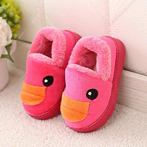 BZLine® Kleinkind Baby Cartoons Mädchen lässig Winter warm Stiefel Schuhe Hot Pink