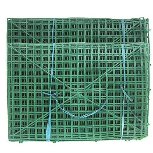 (YOTHG 10pcs 60x40cm Plastic Frame for Flowers Wall Arches DIY Wedding Party Decoration Backdrop Bent sub-Rack Flower Row with 247 Nails(16x24inch))