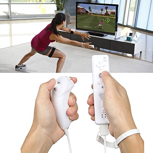 2Packs Nunchuk Nunchuck Controller Remote Video Game for Nintendo Wii Wii U Console