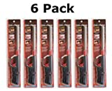 Click-n-Flame Refillable Long-Reach Butane Lighters (6 Pack)