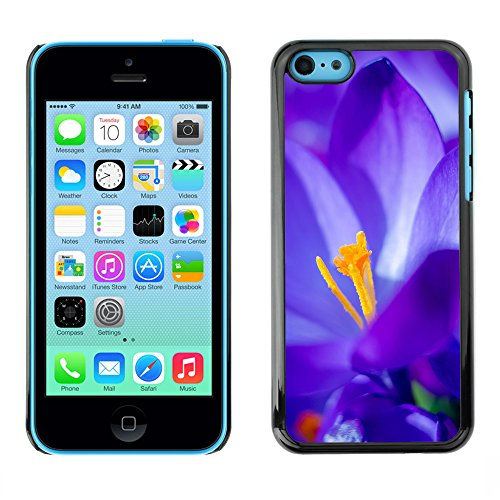 Premio Sottile Slim Cassa Custodia Case Cover Shell // F00027931 Ultrablue fleur // Apple iPhone 5C