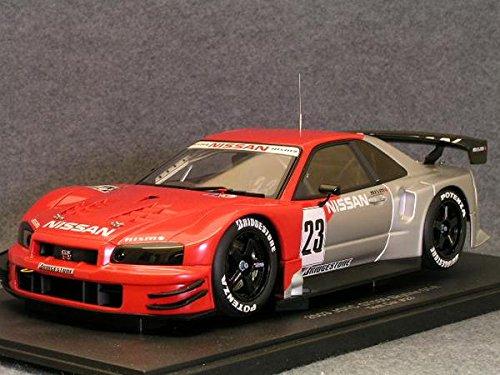 1/18 ニッサン 2003 JGTC GT500 スカイライン GT-R(R34) テストカー #23(レッド×シルバー) 80380