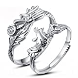 Tidoo Jewelry Couples His and Hers ''Dragon and Phoenix'' Chinese Style Wedding Ring Set