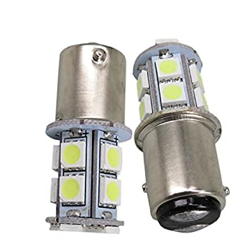 Unipower TMT Leds(TM) 2 X Bombillas LED BAY15D 1157 P21/5W 13 Leds SMD 5050 12V Blanco POSICION Frenos Coches Motos: Amazon.es: Coche y moto
