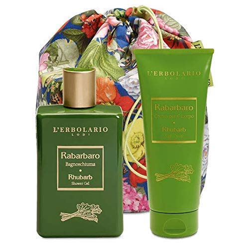 L'Erbolario Beauty Bag Duo Rabarbaro - Bagnoschiuma 250ml - Crema per il Corpo 200ml