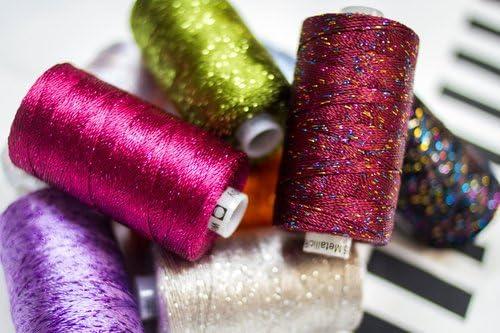 WonderFil Specialty Threads Dazzle Rayon with One Strand of Metallic Grass Green 8wt. 200 yard