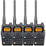 Walkie Talkies Two Way Radio-Olywiz UV6S 5W 2000mAh Battery Range 15Miles Walky Talky 4PCS-Backlight Display Dual Band 128CH Ham Radio with VOX Flashlight IP54 Function