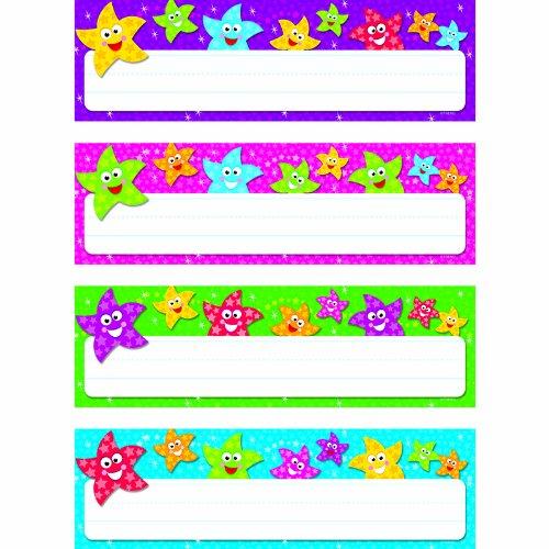 TREND ENTERPRISES INC. DANCING STARS DESK TOPPERS NAME (Set of 24)