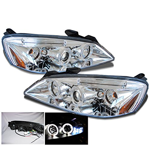 (ZMAUTOPARTS Pontiac G6 2Dr/4Dr Twin Halo LED Projector Headlights New Pair)