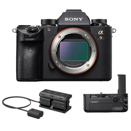 Sony Alpha a9 Mirrorless Digital Camera, Full Frame - Bundle VG-C3EM Vertical Grip, NPA-MQZ1K Multi-Battery Adapter Kit