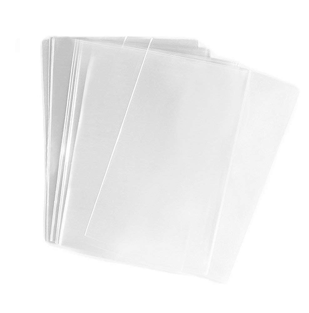 FgfAk 200 Pcs 5x7 Inches Clear Flat Cello/Cellophane Treat Bags Good for Pastry,Bakery,Cookie,Candy and Dessert