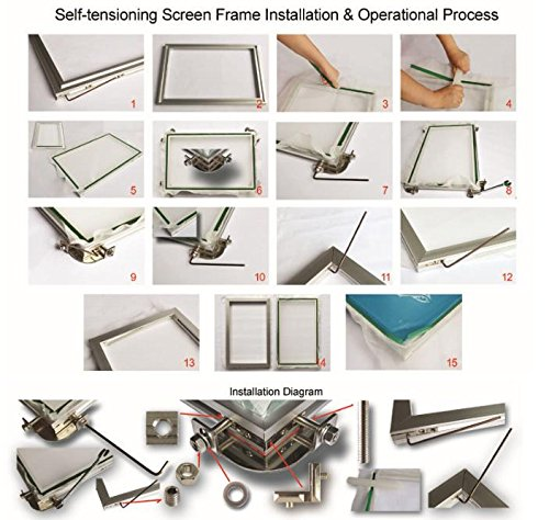 Self-tensioning Aluminum Screen Printing Frame Multi-Sizes Silk Screen Printing Frames