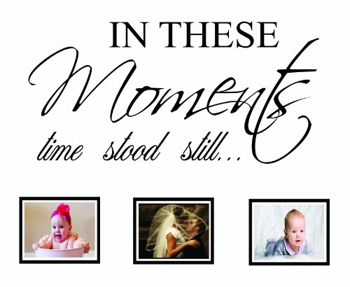 In These Moments Time Stood Still Wall Decal Quote Sticker A