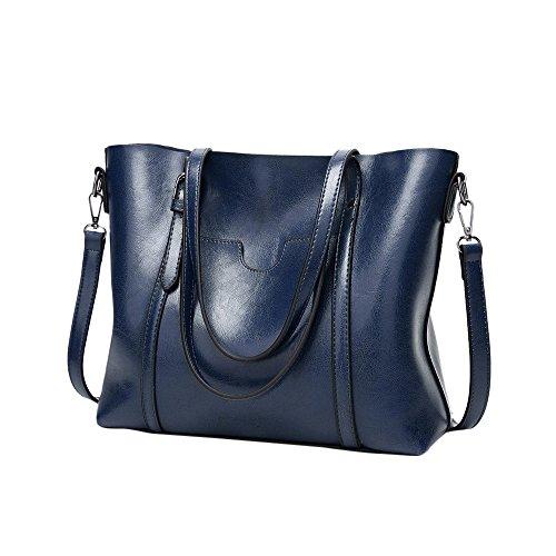 MILIMIEYIK,Womens Messenger Bag Waterproof Waxed Canvas Briefcase Large Satchel Shoulder Bag Computer Laptop Bag, Brown