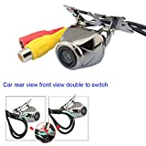 CCD Car Rear View Camera Front View Double To Switch Car Camera with 170'' Wide view Angle Universal Waterproof Night Vision Backup Camera