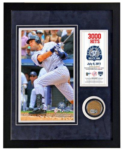 Steiner Sports MLB New York Yankees Derek Jeter 3, 000th Hit gerahmt 11x 14Mini Schmutz Collage JETEPHA113000