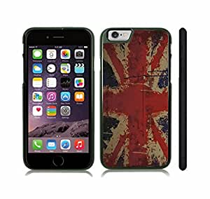 iStar Cases? iPhone 6 Plus Case with U.K Flag Painted Texture Splash Look Design , Snap-on Cover, Hard Carrying Case (Black)