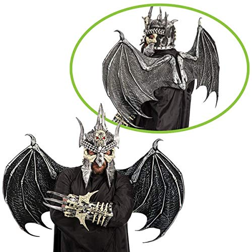 Carnival Toys - Alas con esqueleto de murciélago de látex, 68 x 96 cm, color gris (6680)