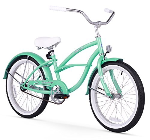 Bicycles Road Vintage (Firmstrong Urban Girl Single Speed Beach Cruiser Bicycle, 20-Inch, Mint Green)