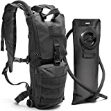 Diaz Sport Tactical Molle Hydration Pack Backpack with 3L Water Bladder. Lightweight & Durable Military Daypack Keeps Water Cold for Up to 4 Hours (Black + No Cleaning Kit Included) For Sale