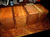 Four Kiln Dried Black CherryWoodBowl Blanks Lathe Turning Block 6 x 6 x 3'' SaladSmall Cherry Wood Lumber
