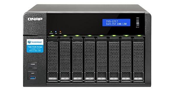 QNAP TVS-871T Ethernet Torre Negro NAS - Unidad Raid (48 TB ...