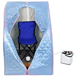 2l Portable Steam Sauna Tent SPA Detox Weight Loss w/ Chair Blue