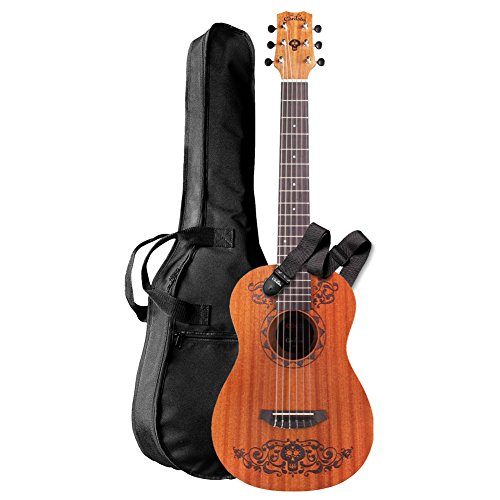 Cordoba Guitars Coco x Cordoba Mini Guitar MH/MH W/B Disney/Pixar Mini Mahogany Acoustic Guitar