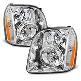 yukon denali 2014 - For GMC Yukon/Yukon XL Denali Hybrid Amber OE Replacement Headlights Driver/Passenger Head Lamps Pair