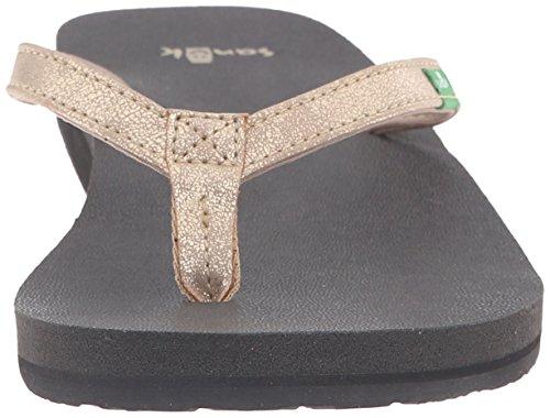 Sanuk Women's Yoga Joy Metallic Flip-Flop Champagne 2G7S3qtu