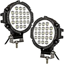 STANSEN 51w Round Led Light 6.25 Spot Work Off Road Fog Driving Roof Bar Bumper for SUV Boat 4x4 JeepLamp