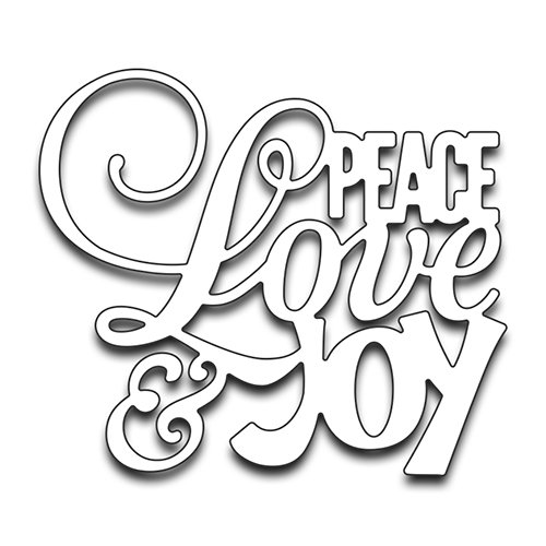 Penny Black Creative Metal die, 51-267,Peace Love and Joy