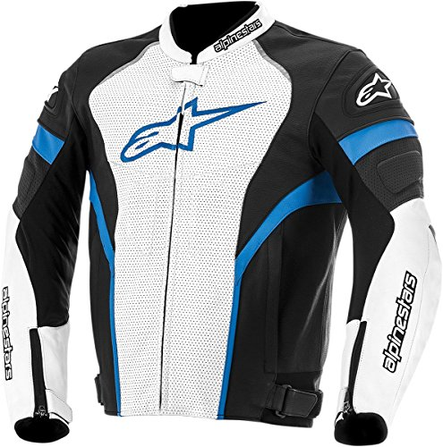 Alpinestars GP Plus R Perforated Leather Men's Riding Jacket (Black/White/Blue, Size 56)