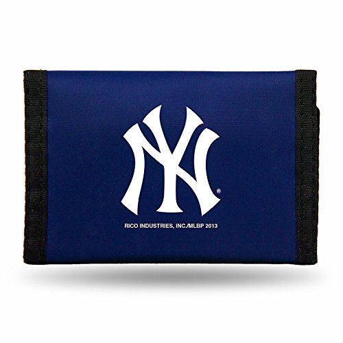 (Rico MLB New York Yankees Products MLB Nylon Wallet New York Yankees, Black, Small)