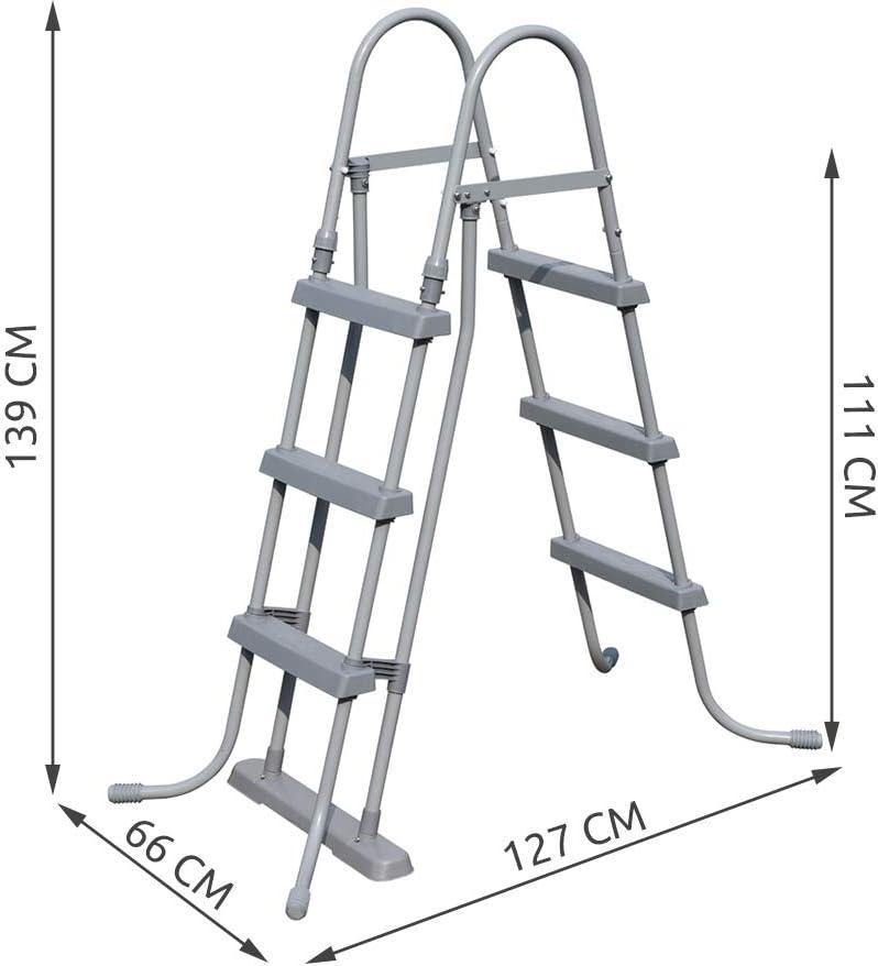 Bestway 58330 - Escalera para piscinas de 107 cm, sin plataforma: Amazon.es: Jardín