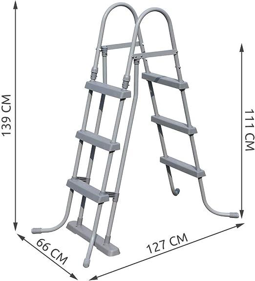 Bestway 58330 - Escalera para piscinas de 107 cm, sin plataforma ...