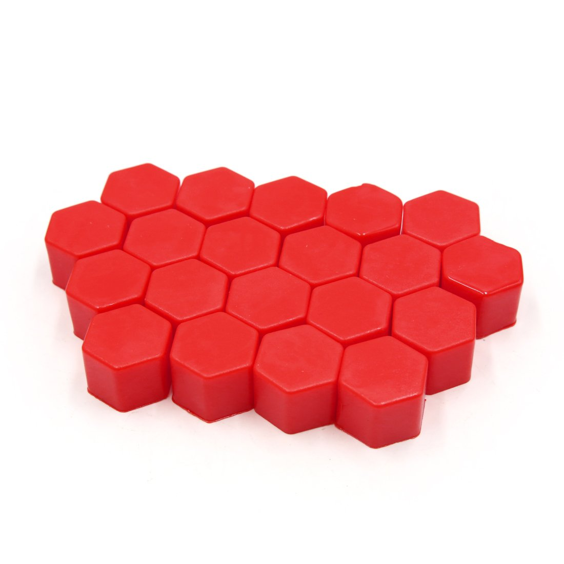 uxcell 20Pcs 17mm Red Silicone Car Wheel Lug Nut Bolt Hub Covers Screw Dust Caps US-SA-AJD-314979