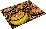MSD Place Mat Non-Slip Natural Rubber Desk Pads design 30045837 ll Brightly colored porcelain bowls from pottery factory in Avanos Cappadocia Turkey