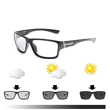 e26912514c Men Photochromic Polarized Sunglasses Outdoor Transition Lens Driving  Glasses  Amazon.co.uk  Clothing