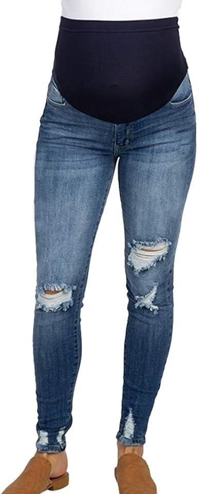 Gusspower Mujer Pantalones Vaquero Rotos Retro De Maternidad Push Up Premama Pantalones Elastico Jeans Cintura Alta Mezclilla Pantalones Delgados Suelto Tallas Grandes Ropa Embarazada Lactancia Amazon Es Ropa Y Accesorios