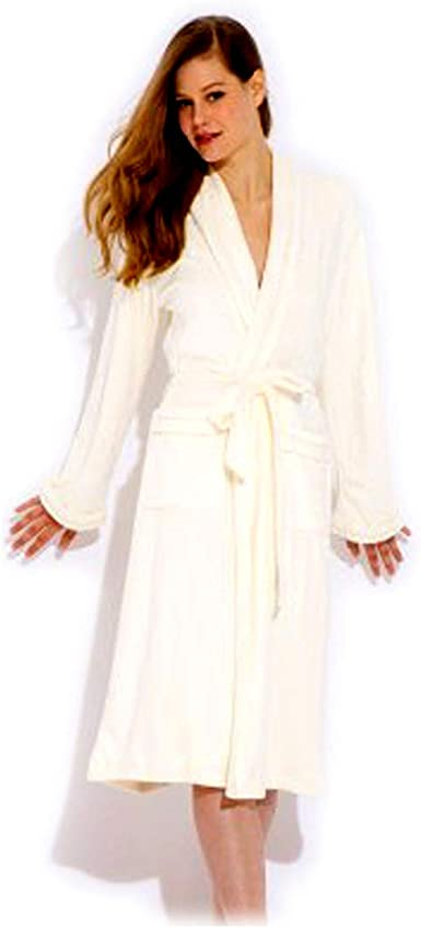 Wrap Up by VP Cream Microfiber Long Robe S//M