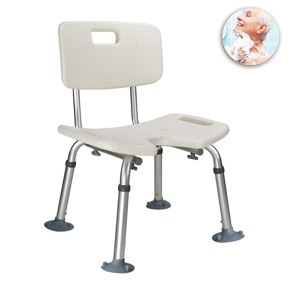 WYQWANLJX Elderly Curved Bath Chair, Aluminum Alloy Bathroom Stool, Pregnant/Disabled Bath Chair, Non-Slip Rust, 7 File Height Adjustable,Gift for Parents by WYQWANLJX